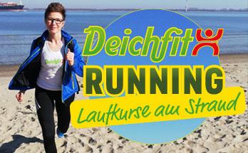 Laufen am Strand in Krautsand