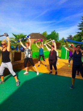 Training bei strahlendem Sonnenschein